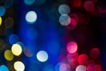 xmas blurred bokeh lights