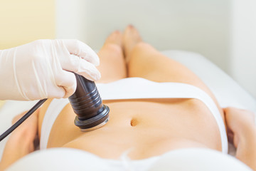 Cavitation treatment close-up
