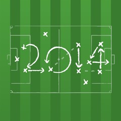 2014 Brazil soccer strategy plan vector