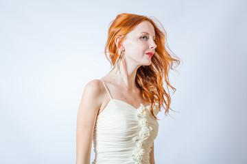 redhead in studio