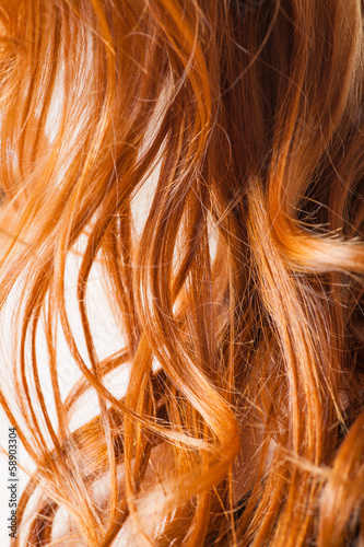 red hair macro or closeup view