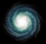 small stars on galaxy space backgrounds