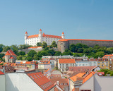 View of Bratislava Castle and the old town