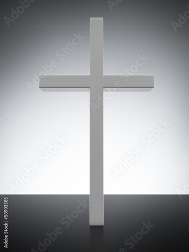 Cross with light