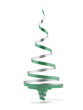 Christmas tree from green ribbon tape