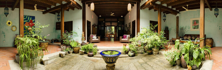 Heritage House Interior Courtyard, George Town, Penang