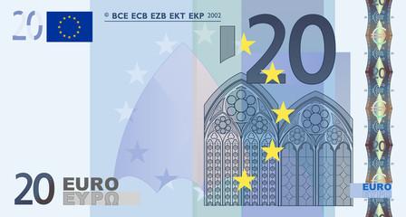 Euro 20 Vector