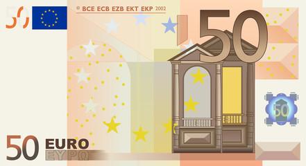 Euro 50 Vector