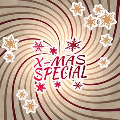 red vintage wooden christmas special symbol