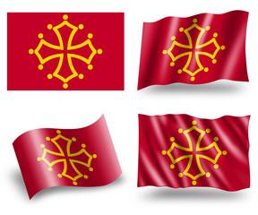 Flag of Midi-Pyrénées Region
