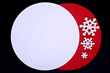 Christmas blank card,red and white color on black background