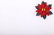 Christmas card or invitation,flower on ceramic background