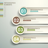 Fototapety abstract 3d paper infographics