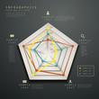 abstract radar chart infographics