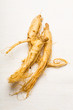 Fresh Ginseng over the white background