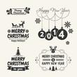 Retro Vintage Christmas set with Typography