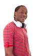 Young african american man with headphones - Black people