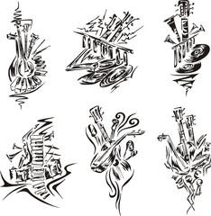 stylized music emblems