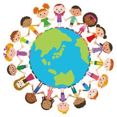 世界の友達と地球