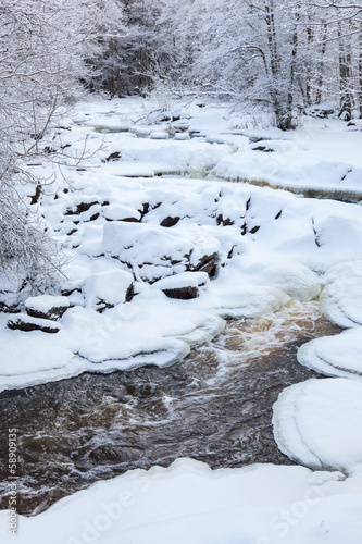 River landscape in Winter