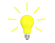 Idea yellow light bulb