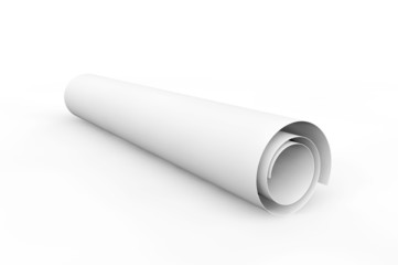 Blank blueprint roll of paper