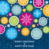 christmas background with snowflakes, vector illustration