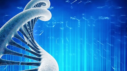 Looping medical background with DNA molecule