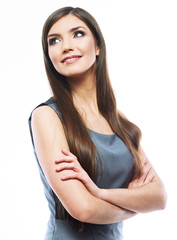 Beautiful smiling business woman.