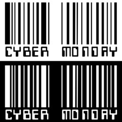 BARCODE CYBER MONDAY BLACK WHITE