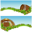 barrel mug beer background banner hop