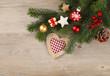 Herz Weihnachtskarte