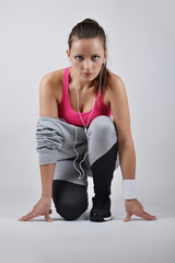 beautiful fitness woman, studio shot
