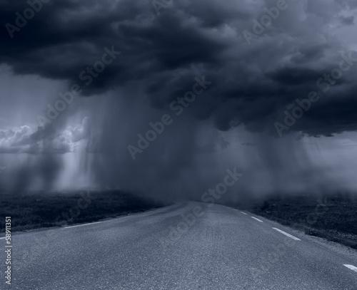 In de dag Onweer bad weather