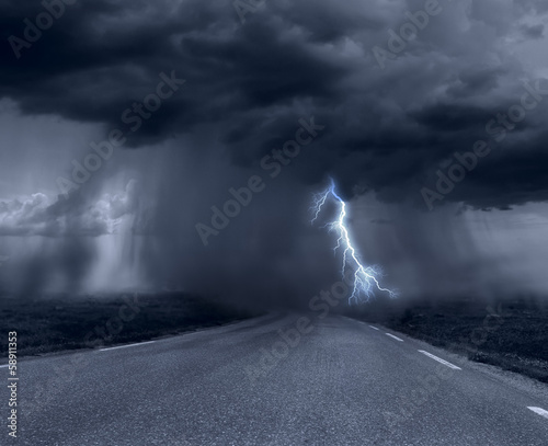 Foto op Canvas Onweer stormy weather