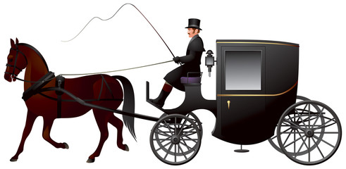 Carriage, One Horse Brougham Cab