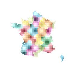 Frankreich Regionen Karte Punkte