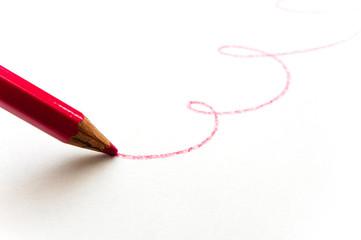 赤鉛筆の落書き