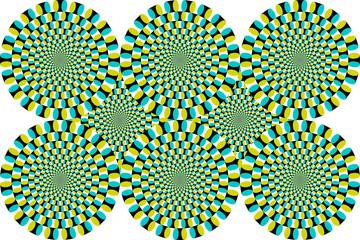 Optische Täuschung Bewegung Vektor