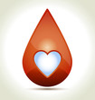 Drop of Blood with heart