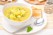 cauliflower soup with curry and cream