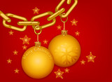 Beautiful glossy gold chain Merry Christmas