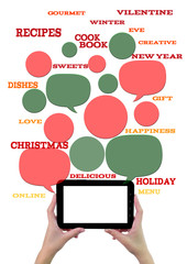 Online winter holiday recipe website business template.
