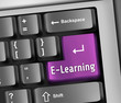 "Keyboard Illustration ""E-Learning"""