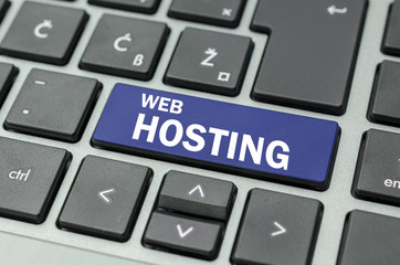 Web hosting button