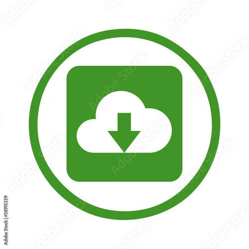 web icon cloud download symbol