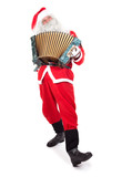 Satna Claus plays the accordion