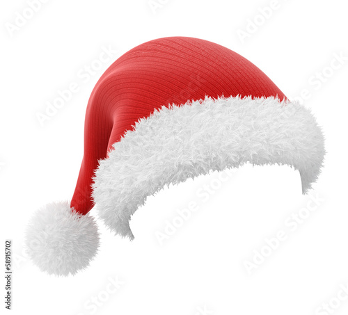 Santa Claus hat, image with a workpath - 58915702