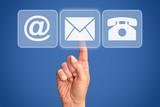 Kontakt via Mail - Telefon - Brief - Internet