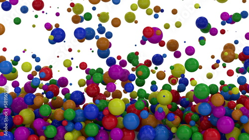 Animation of Colorful Balls Falling with Alpha Channel